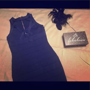 Guess Dresses - Navy Blue Bandage Dress by Guess